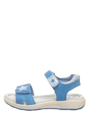 Pio Skórzane sandały w kolorze błękitnym