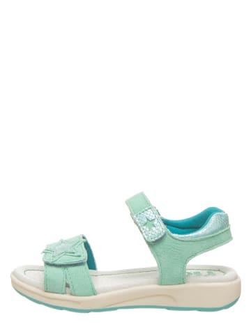 Pio Leren sandalen mintgroen