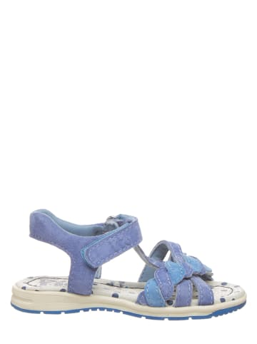 Pio Leren sandalen lichtblauw