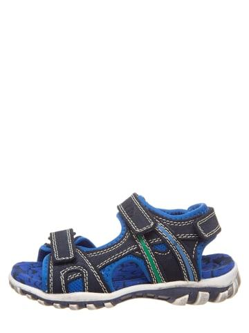 Pio Leren sandalen donkerblauw