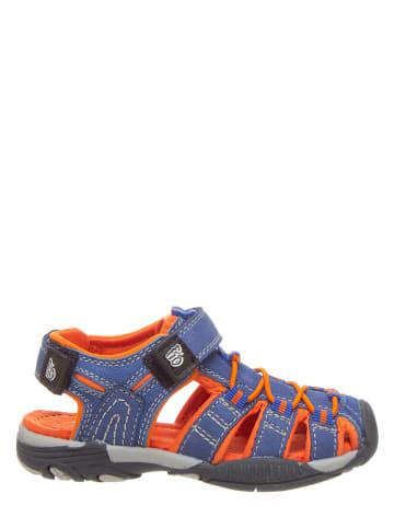 Pio Enkelsandalen blauw/oranje