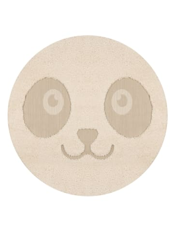 "Zala Living Geweven tapijt ""Panda Pete"" crème/beige"