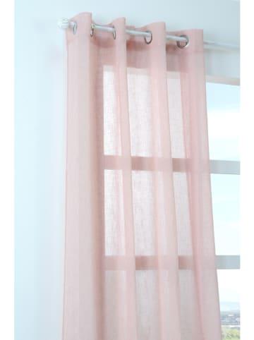 STOF France Zasłona w kolorze jasnoróżowym - 260 x 140 cm