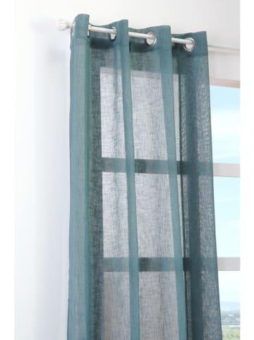 STOF France Zasłona w kolorze morskim - 260 x 140 cm