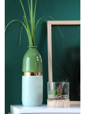 """STOF France Wazon """"Paradise"""" w kolorze zielonym - wys. 28 x Ø 10 cm"""