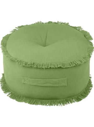 """STOF France Puf """"Prag"""" w kolorze zielonym - wys. 20 x Ø 44 cm"""