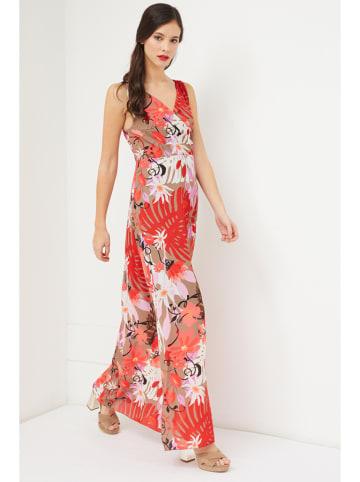 Sandro Ferrone Sukienka w kolorze brązowym ze wzorem