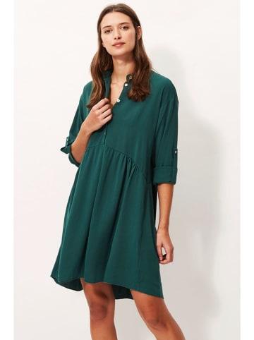 Sandro Ferrone Sukienka w kolorze ciemnozielonym