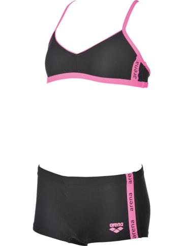 """Arena Bikini """"Hyper"""" w kolorze czarno-jasnoróżowym"""