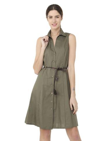 William de Faye Lniana sukienka w kolorze oliwkowym