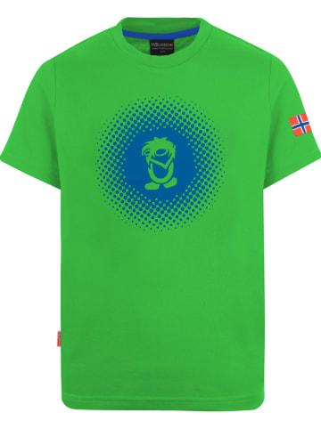 "Trollkids Functioneel shirt ""Pointillism"" groen"