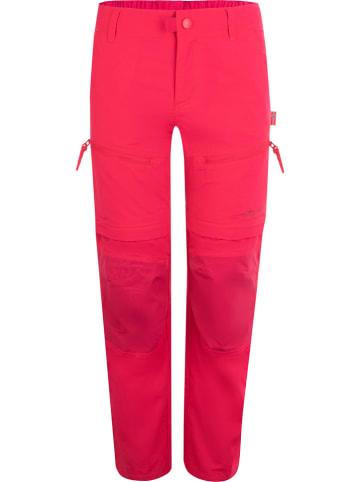 """Trollkids Spodnie trekkingowe Zipp-Off """"Nordfjord"""" - Regular fit - w kolorze różowym"""