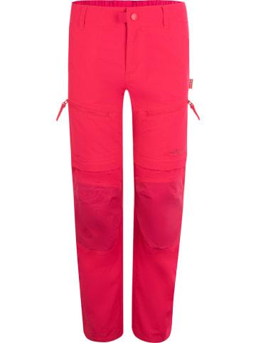 """Trollkids Spodnie trekkingowe Zipp-Off """"Nordfjord""""  - Slim fit - w kolorze różowym"""