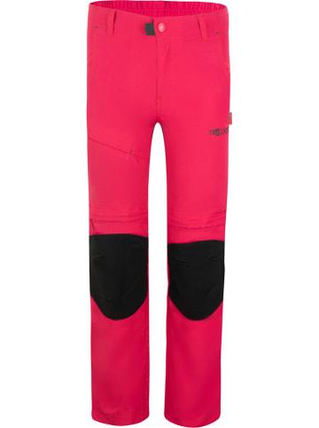 """Trollkids Spodnie trekkingowe Zipp-Off """"Hammerfest XT"""" - Slim fit - w kolorze różowym"""