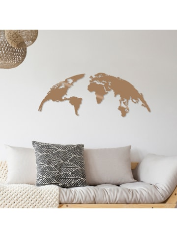"ABERTO DESIGN Wanddekor ""World Map"" - (B)100 x (H)39 cm"