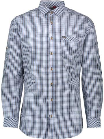 """Spieth & Wensky Trachtenhemd """"Kanu"""" in Blau/ Weiß"""