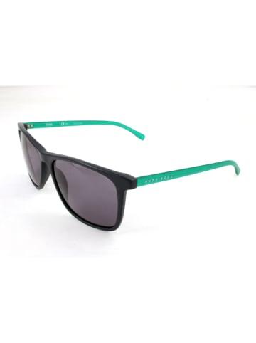 Hugo Boss Herenzonnebril zwart-groen/grijs