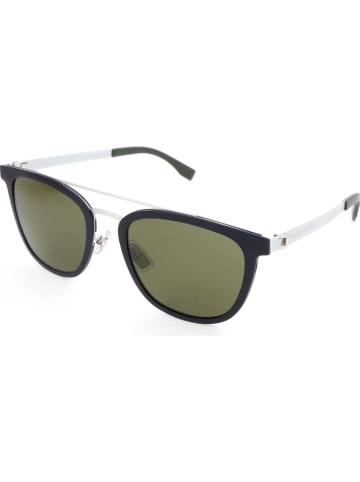 Hugo Boss Damen-Sonnenbrille in Dunkelblau-Weiß/ Oliv