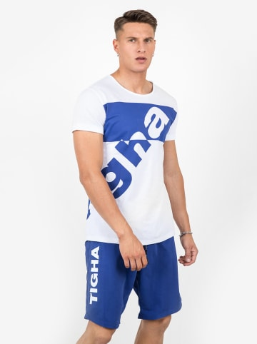 "Tigha Shirt ""Sorin"" wit/blauw"