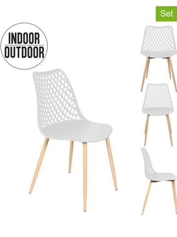 "Garden Spirit 2-delige set: stoelen ""Malaga"" wit - (B)48 x (H)83 x (D)52 cm"