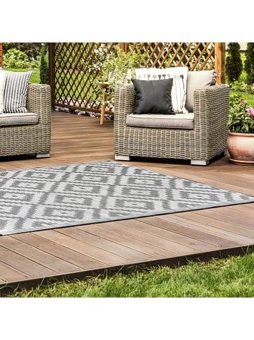 Garden Spirit Indoor-/outdoortapijt grijs/crème - (L)180 x (B)120 cm