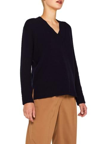 ESPRIT Sweter w kolorze granatowym
