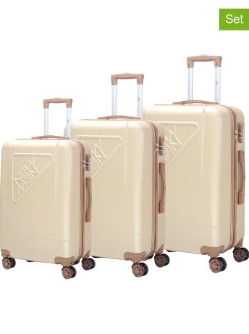 "New Man 3tlg. Hardcase-Trolleyset ""Dallas"" in Champagner"