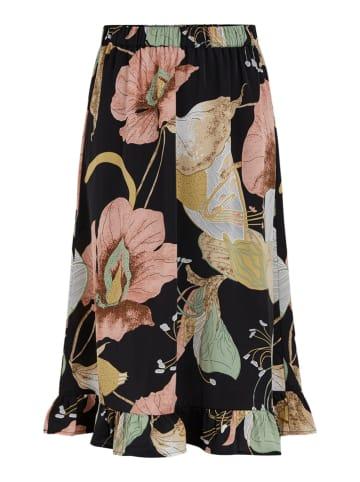 """Y.A.S Spódnica """"Bloomi"""" w kolorze jasnoróżowo-czarnym"""