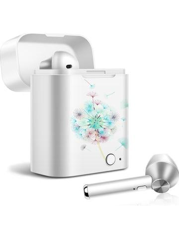 SWEET ACCESS Słuchawki bezprzewodowe Bluetooth In-Ear w kolorze biało-srebrnym