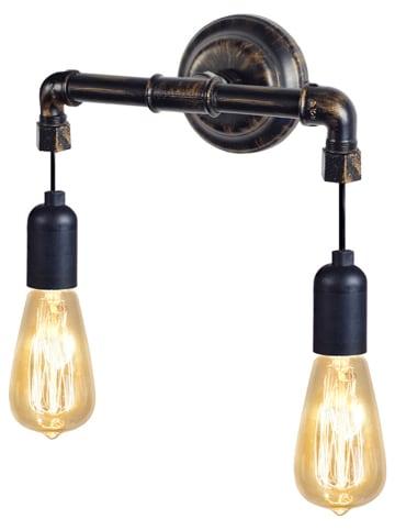 "Tosel Wandlamp ""Hydraulik"" zwart - (B)30 x (H)26 cm"