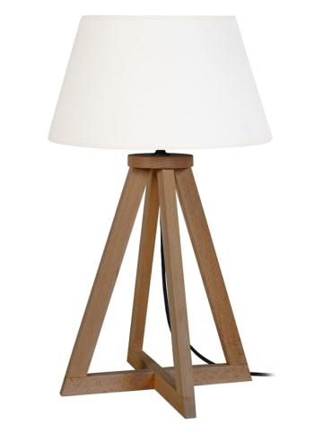 """Tosel Lampa stołowa """"Skara"""" w kolorze białym - wys. 52 cm"""