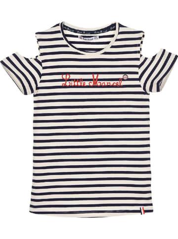 Little Marcel Shirt in Dunkelblau/ Creme