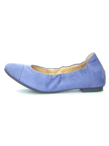 "Think! Leren ballerina's ""Balla"" blauw"