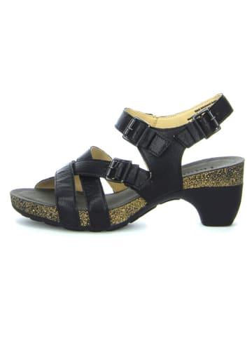 """Think! Skórzane sandały """"Traudi"""" w kolorze czarnym"""
