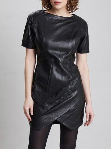 Isaco und Kawa Skórzana sukienka w kolorze czarnym