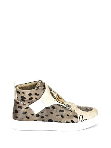 Streetfly Sneakers beige/zwart
