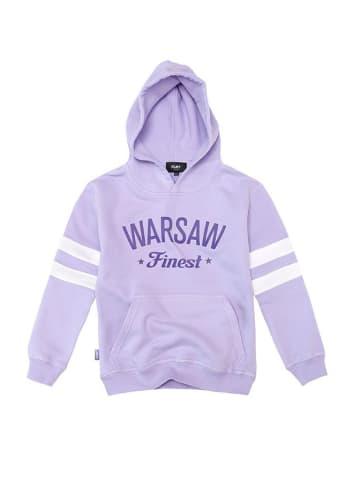 """PLNY Bluza """"Warsaw Finest"""" w kolorze fioletowym"""