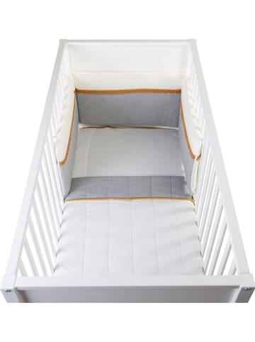 Childhome Hoofdbescherming voor in bed grijs/wit - (L)170 x (B)35 cm