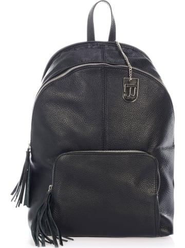 Lucca Baldi Skórzany plecak w kolorze czarnym - 35 x 37 x 14 cm