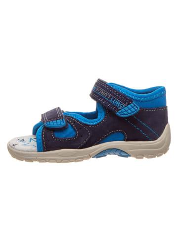"Lurchi Leder-Sandalen ""Mirlo-S"" in Dunkelblau/ Blau"