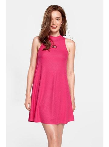 """PLNY LALA Sukienka """"Kiss"""" w kolorze różowym"""