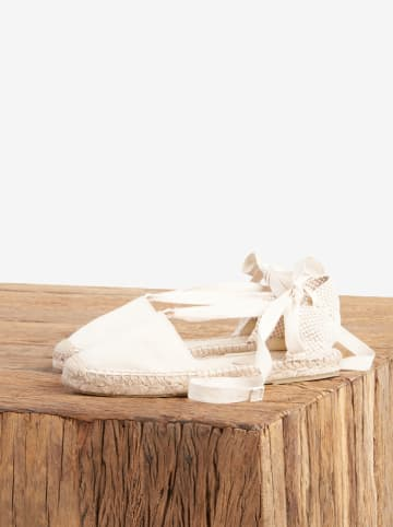 "Comptoir des Cotonniers Espadryle ""Ferret"" w kolorze białym"