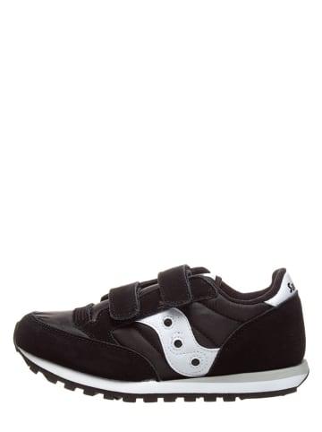 """Saucony Leder-Sneakers """"Jazz Double"""" in Schwarz"""