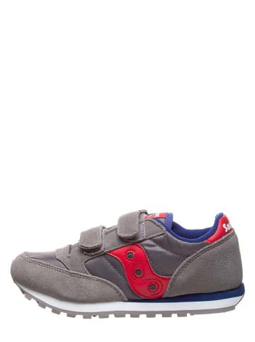 "Saucony Leder-Sneakers ""Jazz Double"" in Grau"