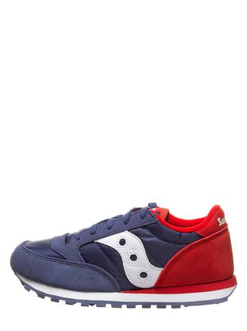 "Saucony Leder-Sneakers ""Jazz Original"" in Dunkelblau/ Rot"