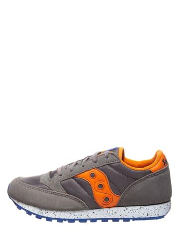 "Saucony Leder-Sneakers ""Jazz Original"" in Grau"