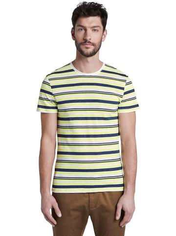 Tom Tailor Koszulka w kolorze żółto-granatowo-białym