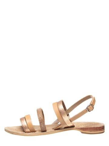 Otto Kern Leren sandalen abrikooskleurig/roségoudkleurig