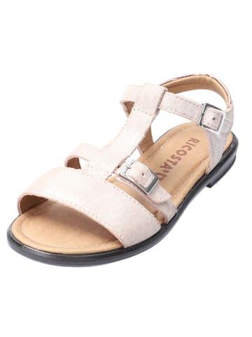 Ricosta Skórzane sandały w kolorze jasnoróżowym