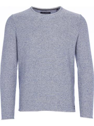 Marc O'Polo DENIM Pullover in Blau/ Weiß